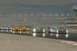 #1 Audi Sport North America Audi R10 TDI Power: Frank Biela, Emanuele Pirro in the lead at the start