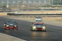 #21 Team PTG BMW E46 M3: Bill Auberlen, Joey Hand and #007 Aston Martin Racing Aston Martin DB9: Tomas Enge, Darren Turner