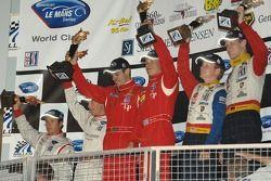 LMGT2 podium celebration
