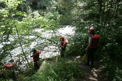 Participants head to the White Salmon river
