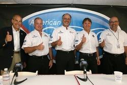 Acura press conference: Scott Atherton, Duncan Dayton, Kim Green, Adrian Fernandez and Robert Clarke