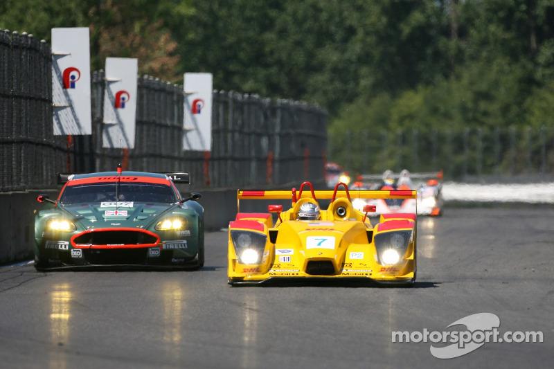 #007 Aston Martin Racing Aston Martin DB9: Tomas Enge, Darren Turner, #7 Penske Motorsports Porsche RS Spyder: Timo Bernhard, Romain Dumas