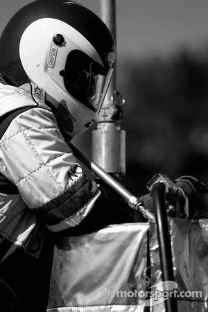 Dyson Racing crew member at work
