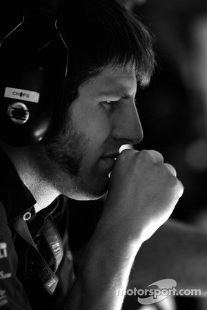 Aston Martin Racing crew member at work