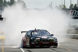 Pit crew challenge: Bill Auberlen warms the tires up