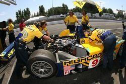 Highcroft Racing crew members at work