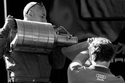 Audi Sport North America crew members at work