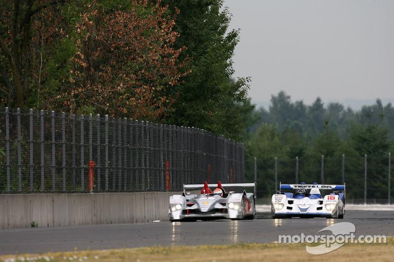 #1 Audi Sport North America Audi R10 TDI Power: Frank Biela, Emanuele Pirro, #16 Dyson Racing Team L