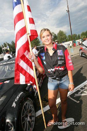 Team PTG flag girl