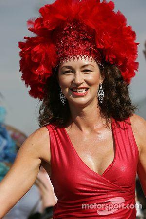 A samba dancer