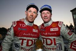 Race winners Rinaldo Capello and Allan McNish celebrate