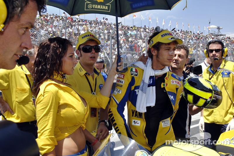 Valentino Rossi sur la grille de départ