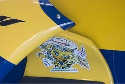 Etiqueta en máquina de Colin Edwards MotoGP