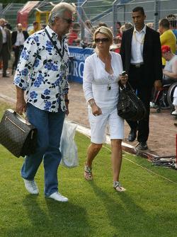 Spiel des Herzens, F1 Superstars plays against the RTL Superstars UNESCO event: Willi Weber and Corina Schumacher