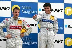 Podium: le vainqueur Bruno Spengler et Bernd Schneider