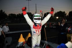 Race winners Allan McNish celebrate