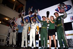 LMGT1 podium: class winners Oliver Gavin and Olivier Beretta, with second place Tomas Enge and Darren Turner, and third place Ron Fellows and Johnny O'Connell