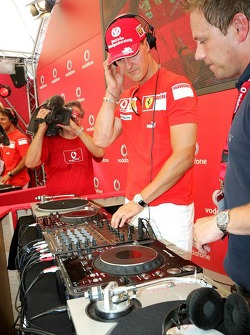 Evento de Vodafone Racing DJ: Michael Schumacher