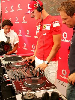 Evento de Vodafone Racing DJ: Michael Schumacher