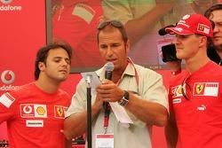 Evento de Vodafone Racing DJ: Kai Ebel, Felipe Massa y Michael Schumacher