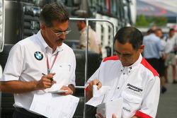 Hirohide Hamashima, Head of Bridgestone Tyre Development with Dr. Mario Theissen