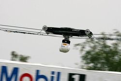TV camera flies over whole motordrome to give viewer change to drive ve Cars