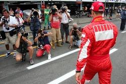 Michael Schumacher con fotógrafos