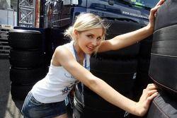 Sophye Gassmann of the Red Bull Formula Unas girls
