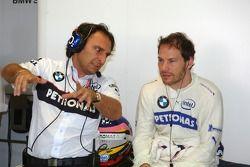 Giampaolo Dallara and Jacques Villeneuve