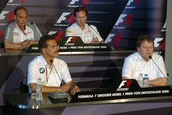 FIA Friday press conference: Dr. Mario Theissen, Norbert Haug, John Howett and Christian Horner