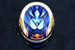Helm von Testfahrer Robert Doornbos