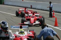 Michael Schumacher y Felipe Massa