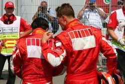 Felipe Massa and Michael Schumacher