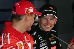 Michael Schumacher en Kimi Raikkonen