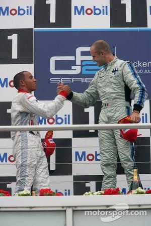Gianmaria Bruni 1er, Lewis Hamilton 2ème