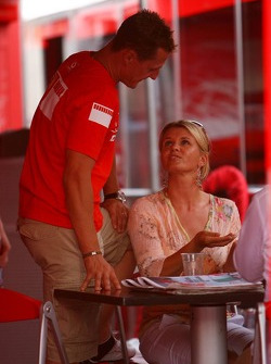 Michael Schumacher y esposa Corina