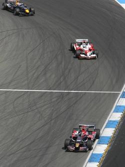Vitantonio Liuzzi, Jarno Trulli and David Coulthard