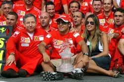 Jean Todt, Felipe Massa and Rafaela Bassi