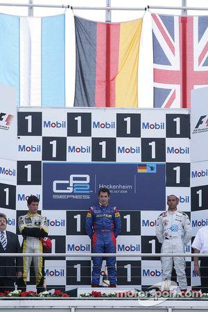 Timo Glock 1er, Jose Maria Lopez 2ème, Lewis Hamilton 3ème