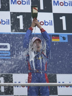 Timo Glock race winer sprays champagne