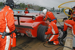Pit stop action