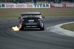 Paul Morris spitting Flames