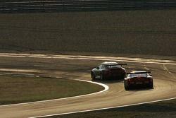 #80 Flying Lizard Motorsports Porsche 911 GT3 RSR: Johannes van Overbeek, Seth Neiman, Patrick Long, #50 Larbre Competition Ferrari 550 Maranello: Gabriele Gardel, Jean-Luc Blanchemain, Patrick Bornhauser
