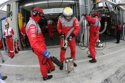 Audi Sport Team Joest team members at work