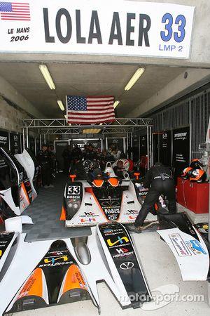 Intersport Racing garage area