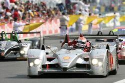 Race winner Emanuele Pirro celebrates