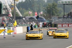 #64 Corvette Racing Corvette C6-R: Olivier Gavin, Olivier Beretta, Jan Magnussen remportent la course dans la LMGT1