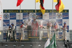 LMP1 podium: champagne for everyone
