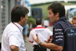 Pasquale Lattuneddu y Mark Webber