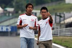 Sakon Yamamoto and Takuma Sato